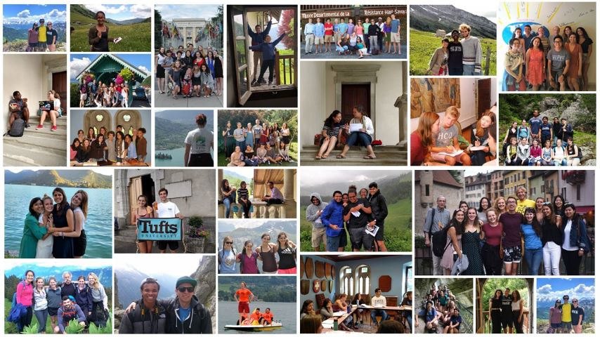 A mosaic of photos of the many students and professors who have been to the TUEC recently